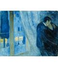 Stampa su tela: Edvard Munch - il Bacio