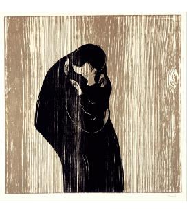 Edvard Munch - Bacio IV. Stampa su tela
