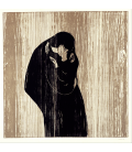 Edvard Munch - Kiss IV. Printing on canvas