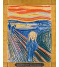Edvard Munch - L'urlo. Stampa su tela