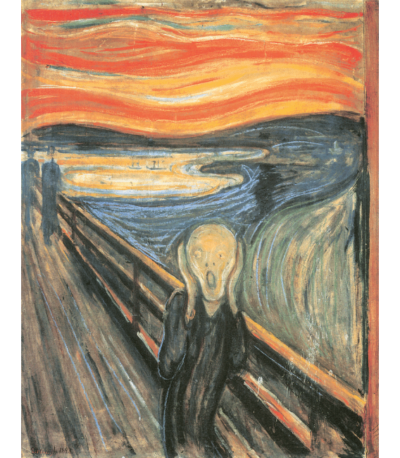Stampa su tela: Edvard Munch - L'urlo 1893
