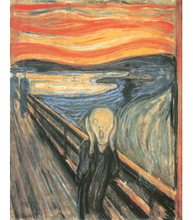 Edvard Munch - The Scream 1893. Printing on canvas