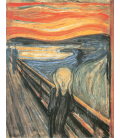 Edvard Munch - L'urlo 1893. Stampa su tela