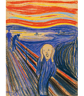 Edvard Munch - L'urlo 2. Stampa su tela