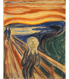 Edvard Munch - L'urlo 3. Stampa su tela