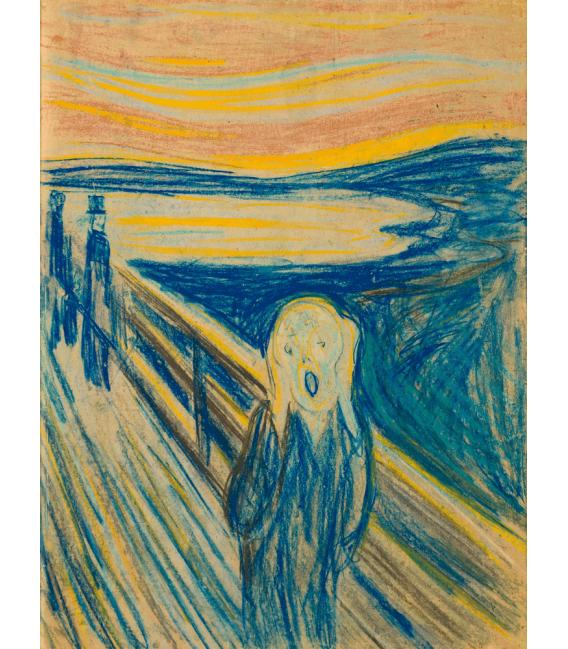 Stampa su tela: Edvard Munch - L'urlo 4