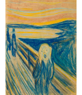 Edvard Munch - L'urlo 4. Stampa su tela