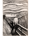 Edvard Munch - The Scream 5. Printing on canvas