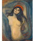 Edvard Munch - Madonna. Printing on canvas