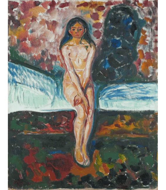 Stampa su tela: Edvard Munch - Pubertà