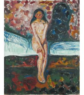 Edvard Munch - Pubertà. Stampa su tela
