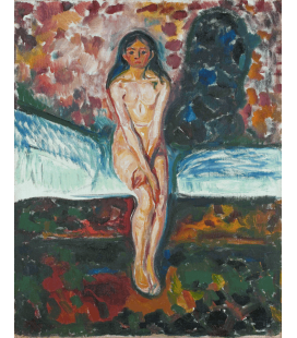 Edvard Munch - Puberty. Printing on canvas