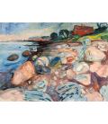 Edvard Munch - Casa Rossa sulla Riva. Stampa su tela
