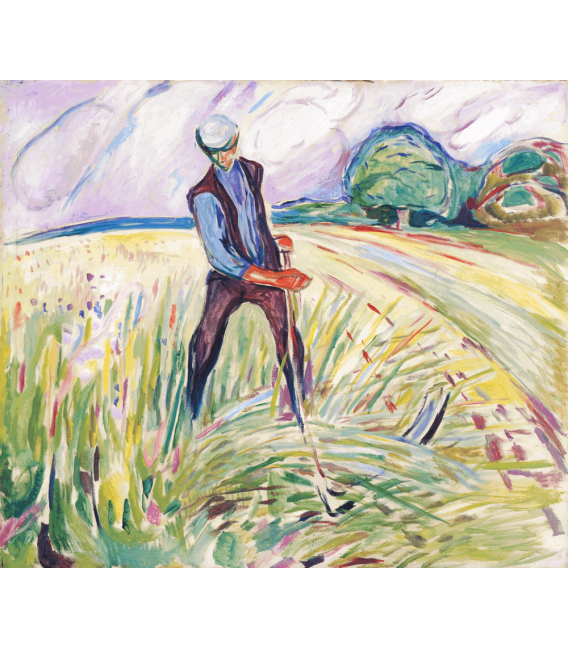 Stampa su tela: Edvard Munch - The Haymaker