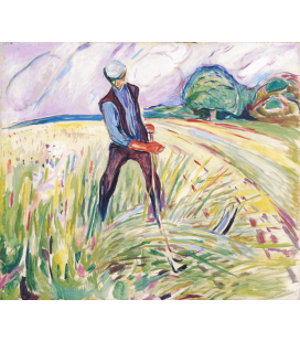 Edvard Munch - The Haymaker. Printing on canvas