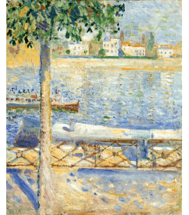 Edvard Munch - The Seine at Saint-Cloud. Printing on canvas