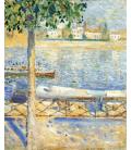 Edvard Munch - The Seine at Saint-Cloud. Printing on canvas
