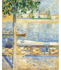 Stampa su tela: Edvard Munch - The Seine at Saint-Cloud
