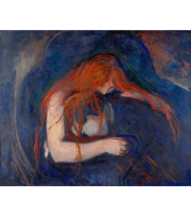 Edvard Munch - Vampire. Printing on canvas