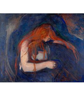 Edvard Munch - Vampiro. Stampa su tela