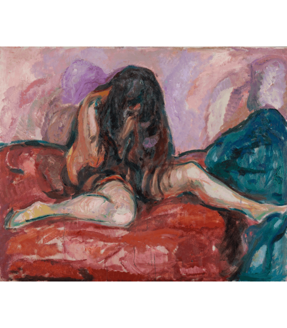 Printing on canvas: Edvard Munch - Weeping Nude