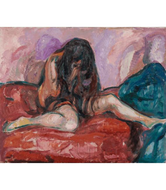 Stampa su tela: Edvard Munch - Weeping Nude