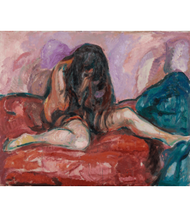 Edvard Munch - Weeping Nude. Printing on canvas
