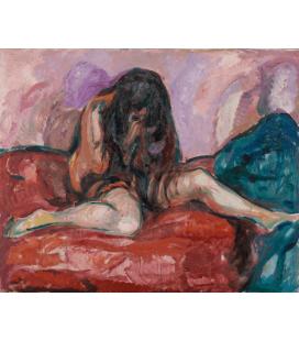 Edvard Munch - Nudo Piangente. Stampa su tela