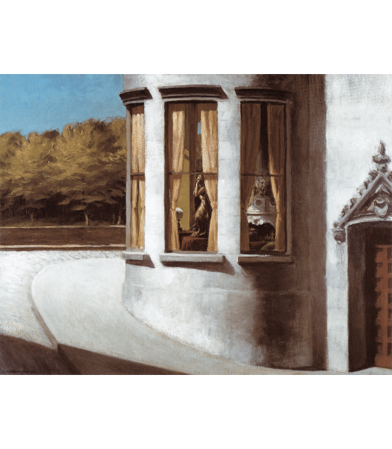 Printing on canvas: Edward Hopper - August in the city