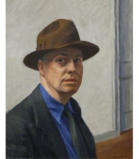 Stampa su tela: Edward Hopper - Autoritratto