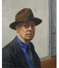 Edward Hopper - Autoritratto. Stampa su tela