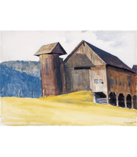Stampa su tela: Edward Hopper - Barn and Silo Vermont