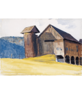 Edward Hopper - Barn and Silo Vermont. Stampa su tela