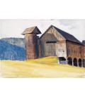 Stampa su tela: Edward Hopper - Barn and Silo Vermont