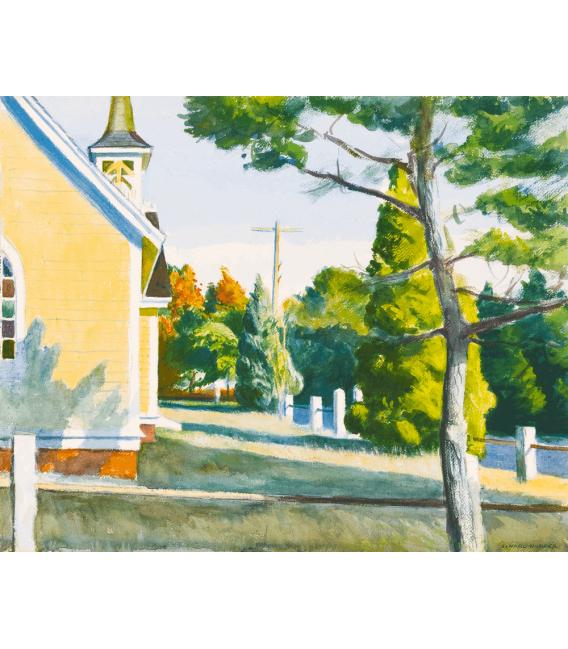 Stampa su tela: Edward Hopper - Church in Eastha