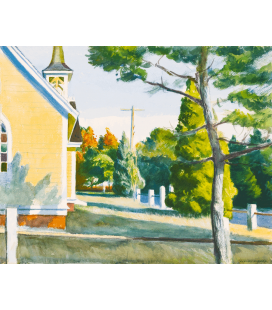 Edward Hopper - Church in Eastha. Printing on canvas