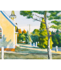 Printing on canvas: Edward Hopper - Church in Eastha
