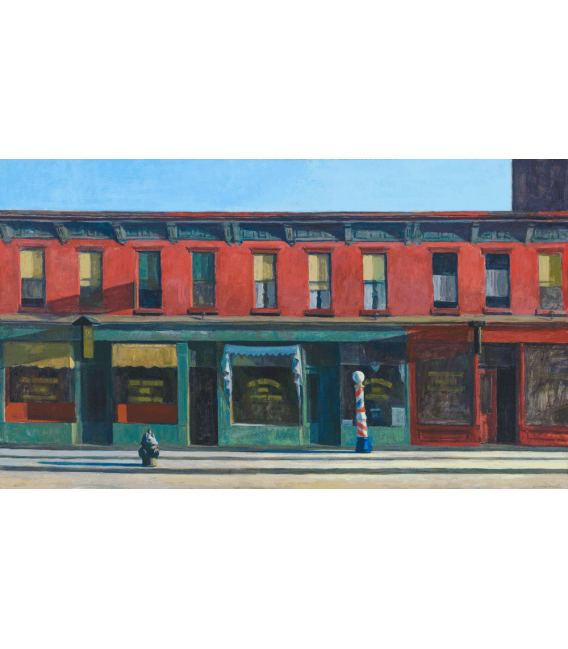 Printing on canvas: Edward Hopper - Early Sunday Morning