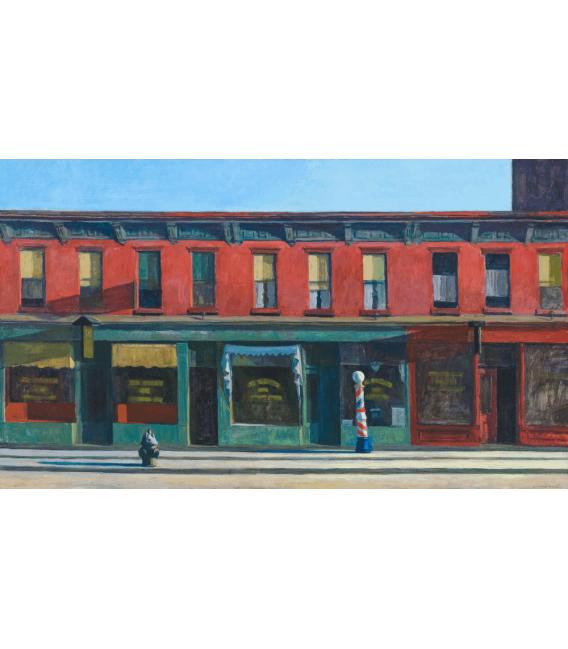 Stampa su tela: Edward Hopper - Early Sunday Morning