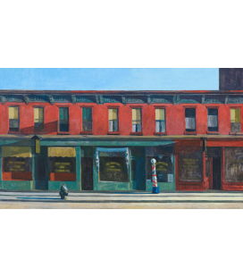 Stampa su tela: Edward Hopper - Early Sunday Morning
