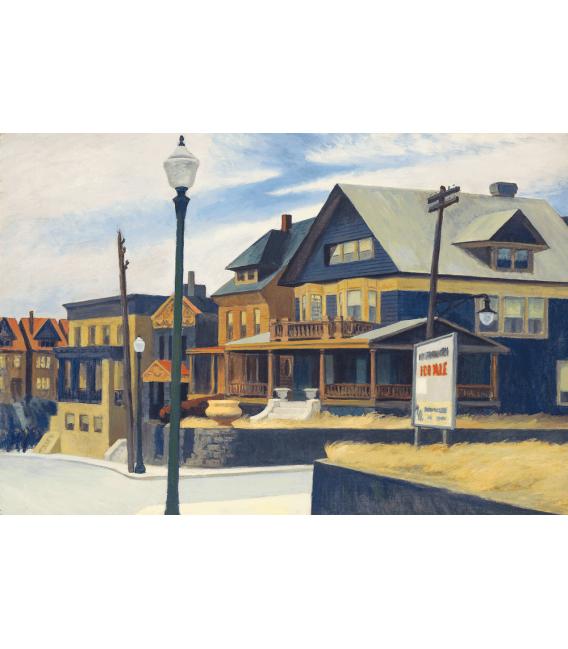 Stampa su tela: Edward Hopper - East wind over weehawken