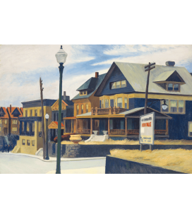 Stampa su tela: Edward Hopper - East wind over weehawken