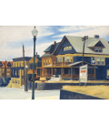 Printing on canvas: Edward Hopper - East wind over Weehawken