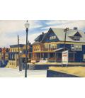 Edward Hopper - Vento da Est sopra Weehawken. Stampa su tela