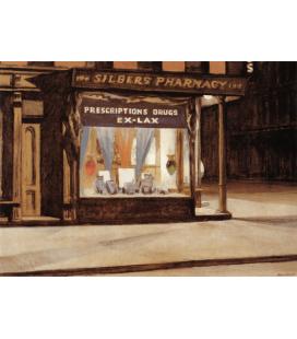 Edward Hopper - Farmacia. Stampa su tela