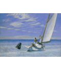 Stampa su tela: Edward Hopper - Ground Swell