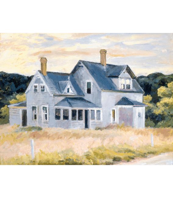 Stampa su tela: Edward Hopper - House on the Cape (Cottage, Cape Cod)