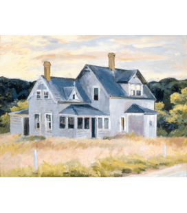 Stampa su tela: Edward Hopper - House on the Cape (Cottage, Cape Cod)