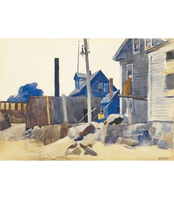 Stampa su tela: Edward Hopper - House on the Shore