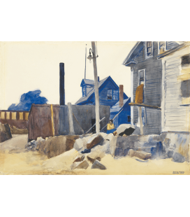 Edward Hopper - House on the Shore. Printing on canvas